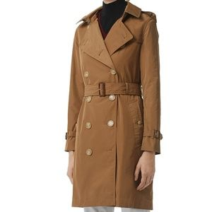 New BURBERRY Kensington Taffeta Trench Coat